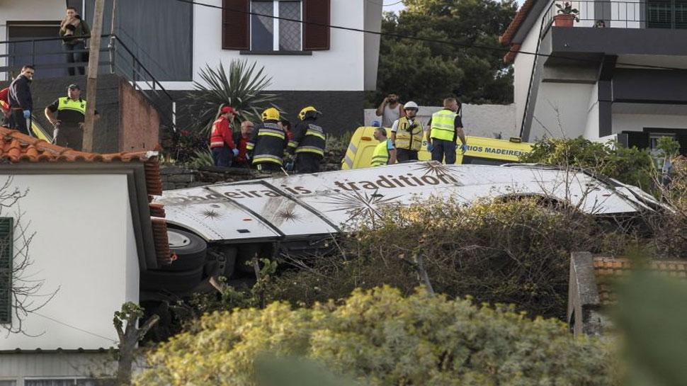पुर्तगाल में भीषण सड़क हादसा, टूरिस्ट बस पलटने से 29 लोगों की मौत, कई घायल