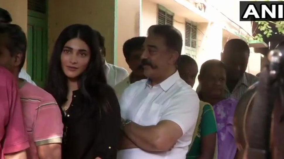 लोकसभा चुनाव 2019 LIVE: चेन्'€à¤¨à¤ˆ में बेटी श्रुति हासन संग वोट डालने पहुंचे कमल हासन