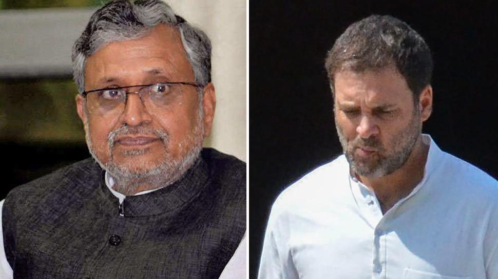 सुशील मोदी ने राहुल गांधी के खिलाफ दायर की मानहानि की याचिका, 2 साल की सजा की मांग