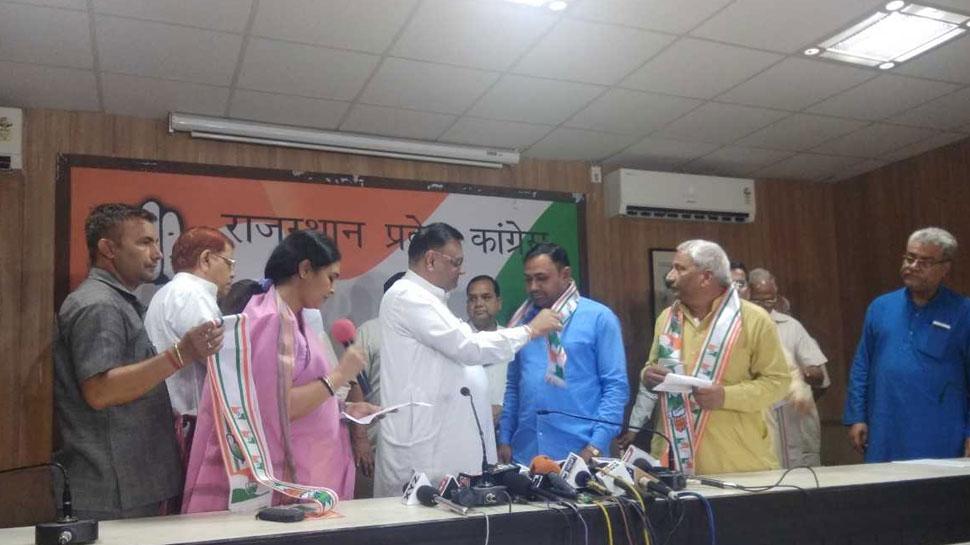 राजस्थान में बीजेपी को झटका, मेघ देशम पार्टी कांग्रेस में हुई शामिल