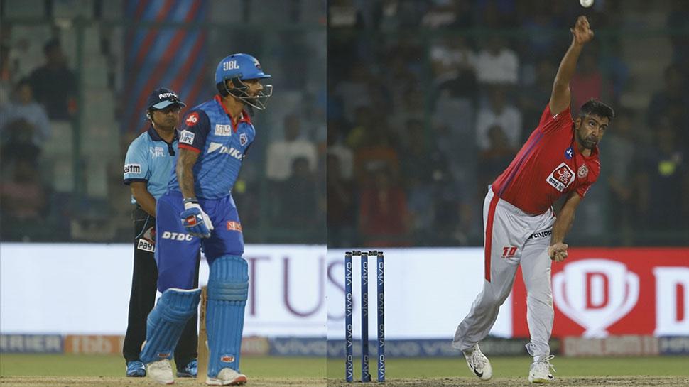 VIDEO: IPL में अश्विन फिर पड़े मांकडिंग के फेर में, धवन के जवाब पर झूमी दिल्ली की पब्लिक