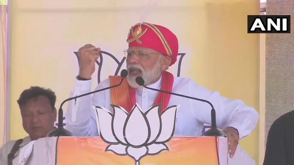 चितौड़गढ़ में बोले PM मोदी- 'आप मजबूत भारत देखना चाहते हैं या मजबूर भारत'