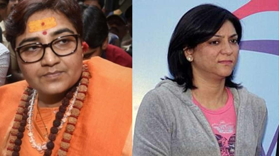 प्रिया दत्त ने की साध्वी प्रज्ञा की निंदा, BJP नेता बोलीं- 'देशद्रोही भाई का विरोध भी करो मैडम'