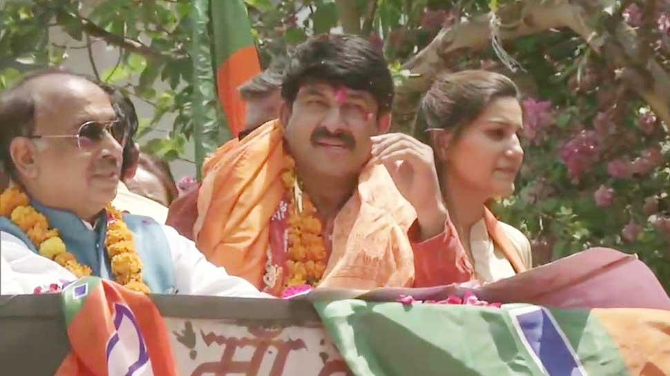 मनोज तिवारी के रोड शो में दिखीं सपना चौधरी, क्या ज्वाइन करेंगे BJP? यह रहा जवाब