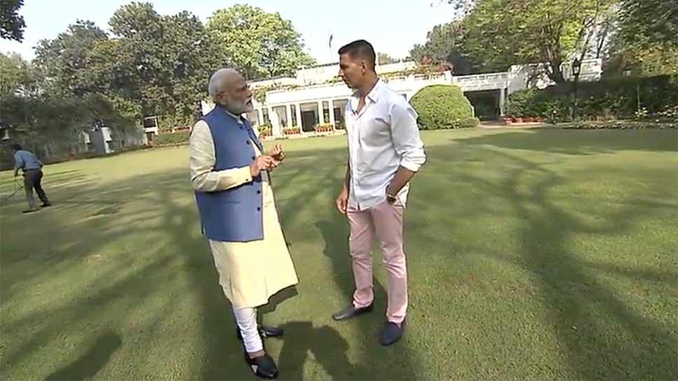 Modi with Akshay