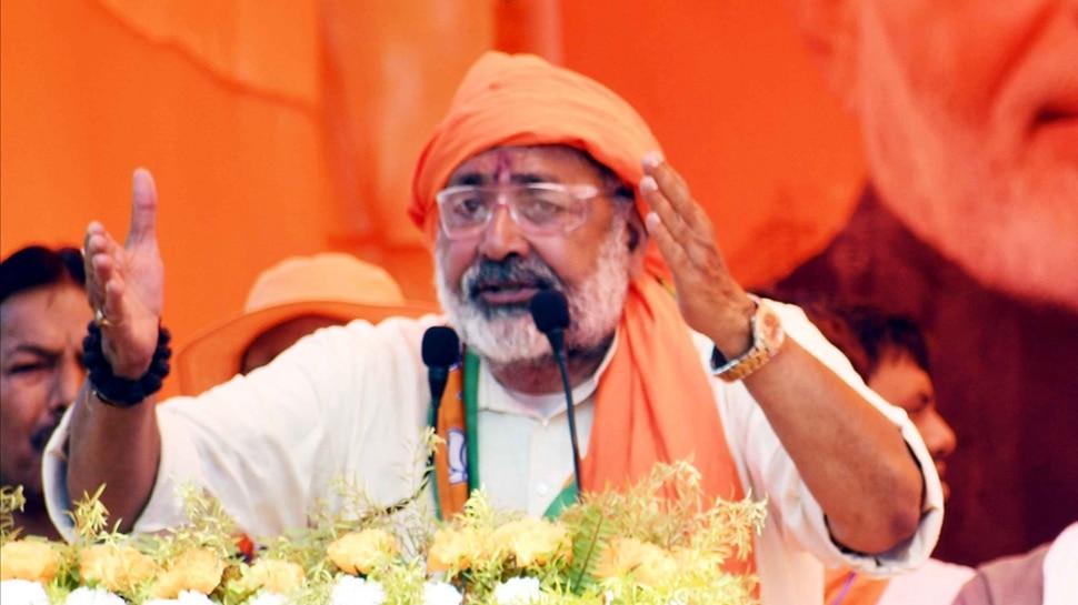 तुम्हें तो कब्र के लिए जमीन चाहिए, वंदे मातरम नहीं गाए तो देश माफ नहीं करेगा : गिरिराज सिंह