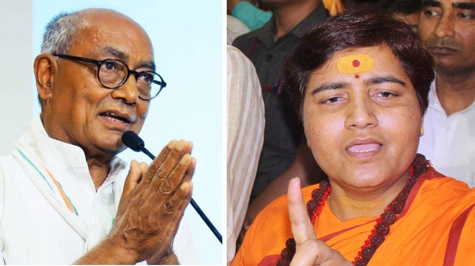 साध्वी प्रज्ञा ने दिग्विजय सिंह को बताया आतंकी, चुनाव आयोग ने नोटिस जारी कर मांगा जवाब
