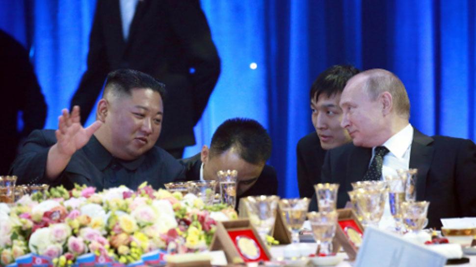 किम जोंग रुस के राष्ट्रपति पुतिन से मुलाकात के बाद व्लादिवोस्तोक से रवाना