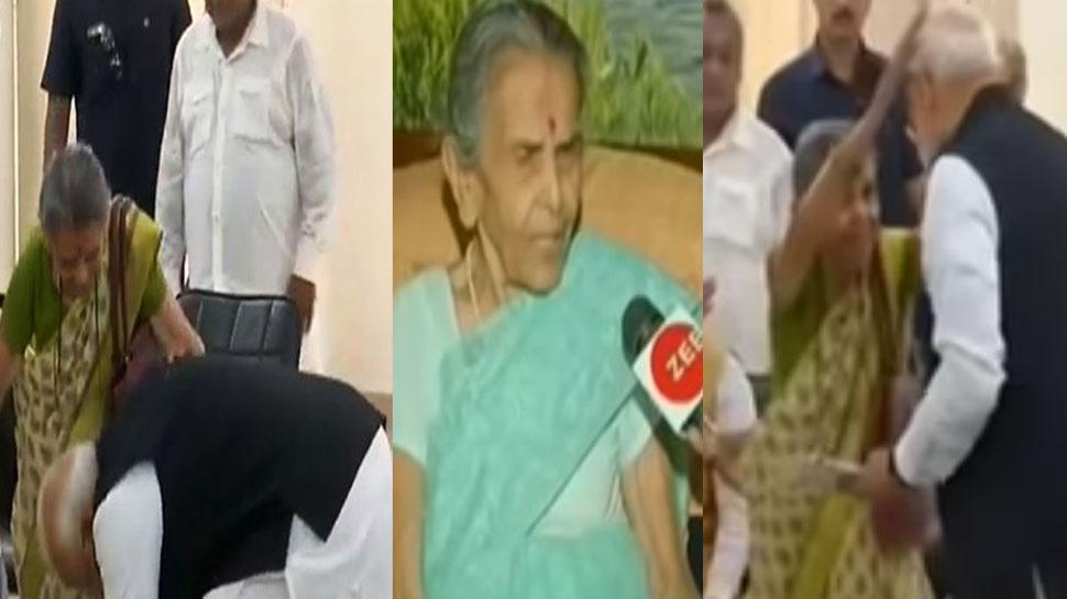 जानिये उन 'मां' के बारे में, PM मोदी ने जिनके पैर छूकर भरा था नामांकन