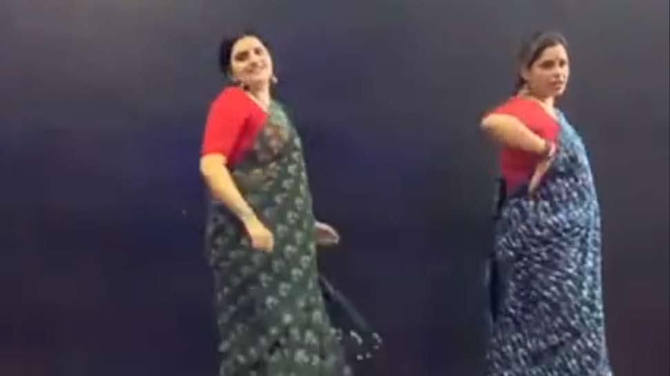 Video : साड़ी पहनकर किए ऐसे स्टेप्स, कुछ ही घंटों में वायरल हो गया डांस