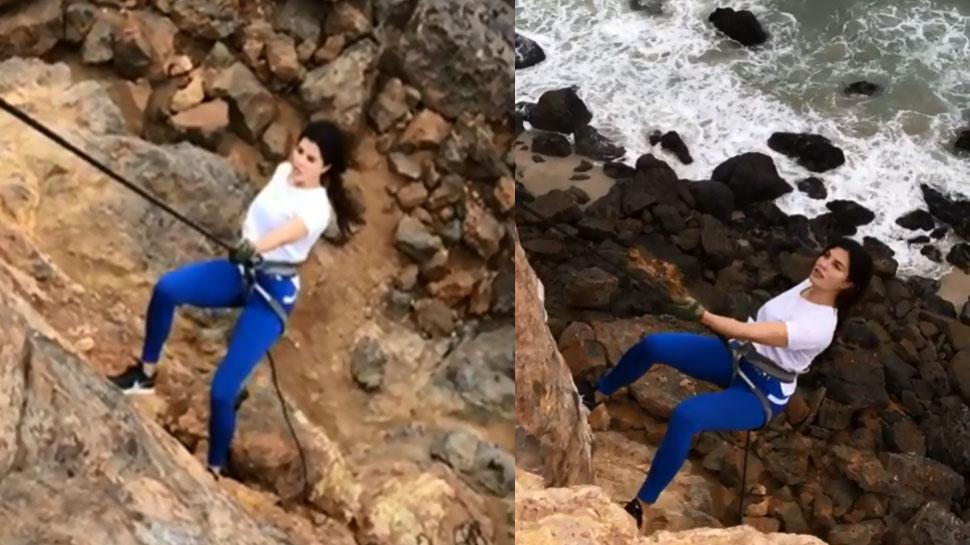 जैकलीन फर्नांडीज ने किया रोंगटे खड़े कर देने वाला स्टंट! VIDEO हुआ VIRAL