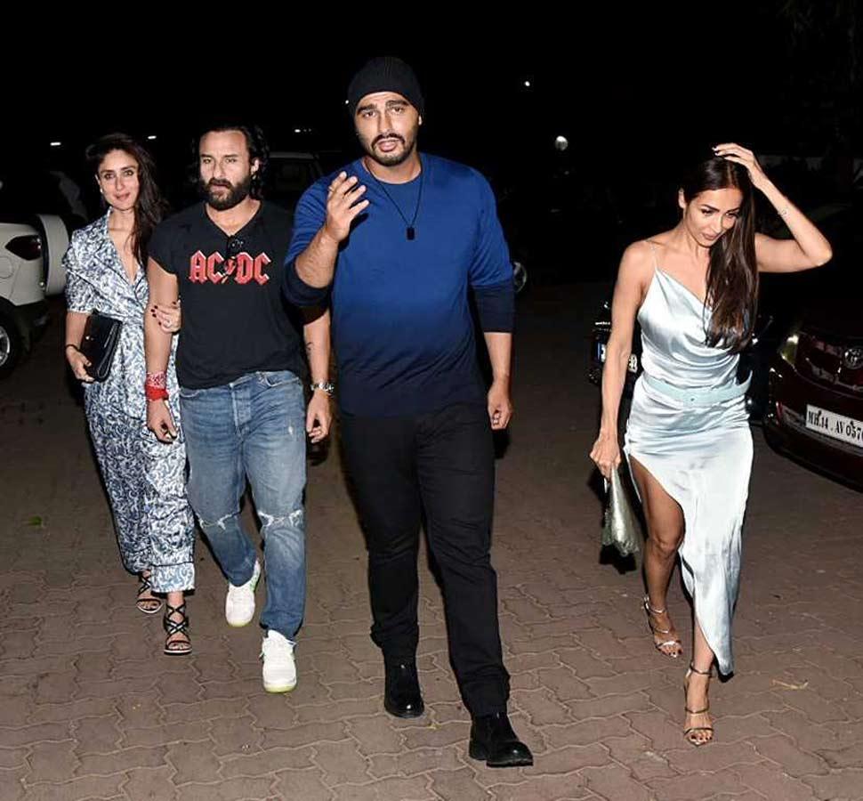 Arjun Kapoor and Malaika Arora spotted at  party