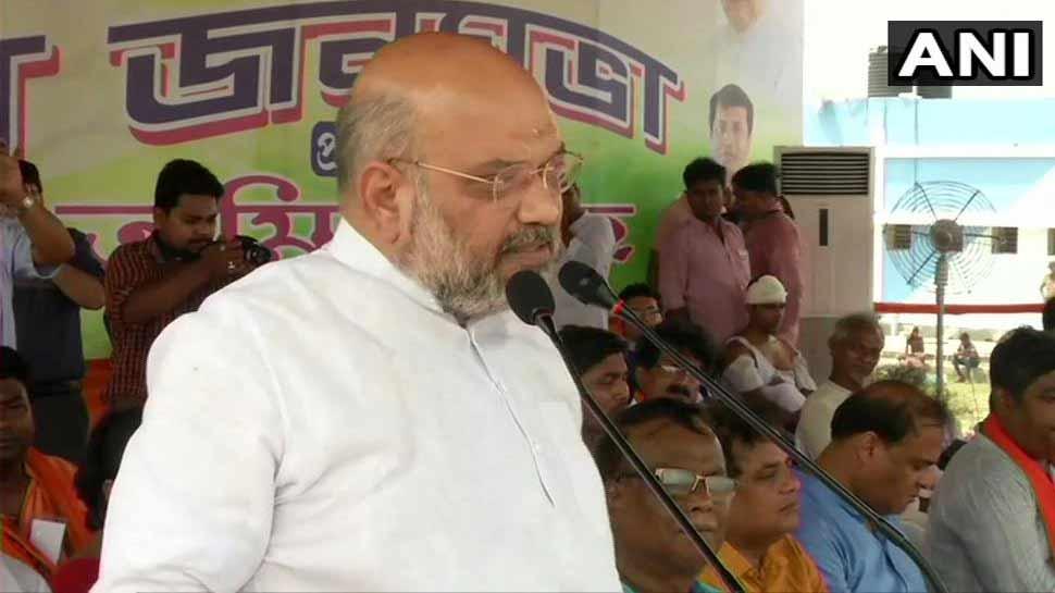पश्चिम बंगाल में गरजे अमित शाह, 'मैं जय श्रीराम बोलता हूं, ममता दीदी गिरफ्तार करके दिखाएं'
