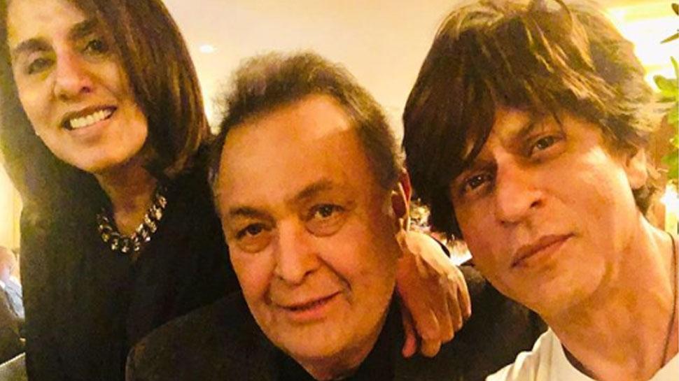 न्यूयॉर्क में एक बार फिर ऋषि कपूर से मिले शाहरुख खान, सामने आई प्यारी तस्वीर