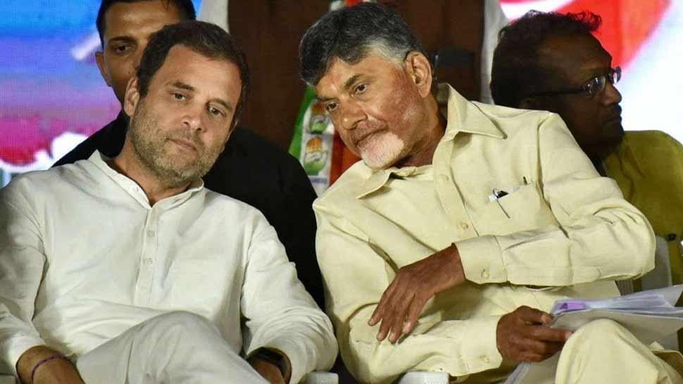चंद्रबाबू नायडू ने राहुल गांधी से की मुलाकात, BJP विरोधी मोर्चे पर हुई चर्चा