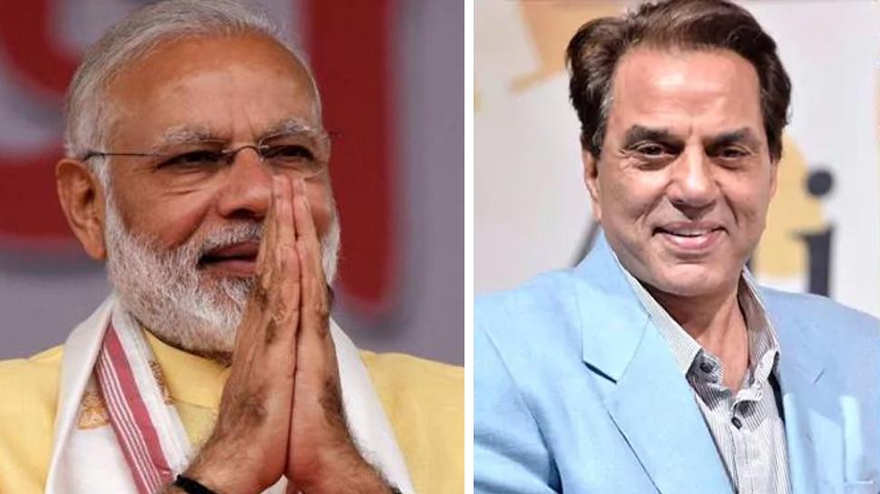 Exit Poll 2019: अभिनेता धर्मेंद्र ने दी PM मोदी को बधाई, ट्वीट पर कहा - 'फकीर बादशाह'