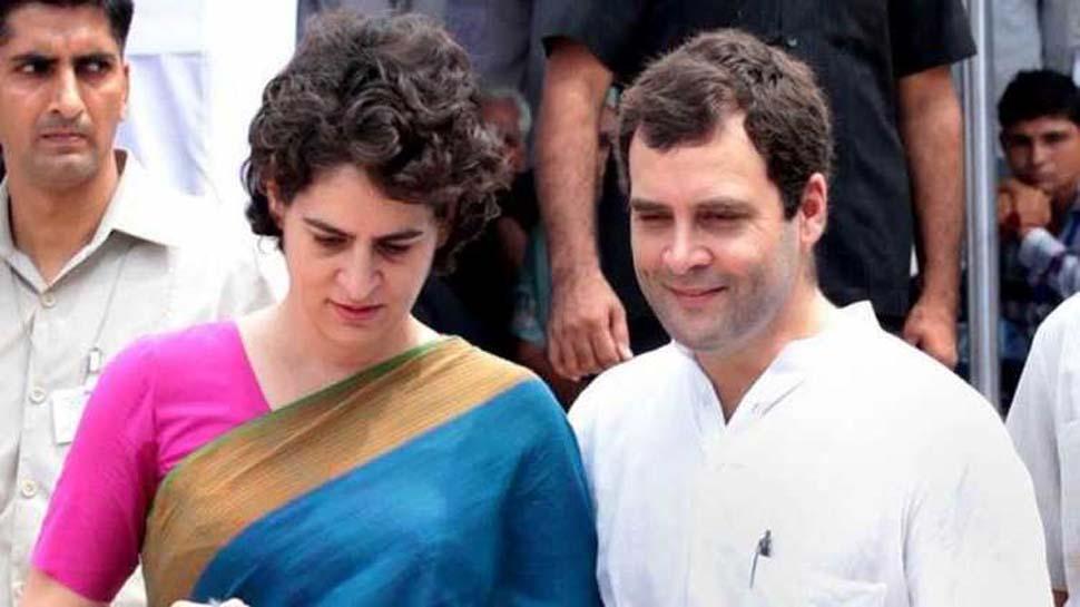 Result 2019: रुझानों में कांग्रेस को झटका, राहुल गांधी से मिलीं प्रियंका गांधी
