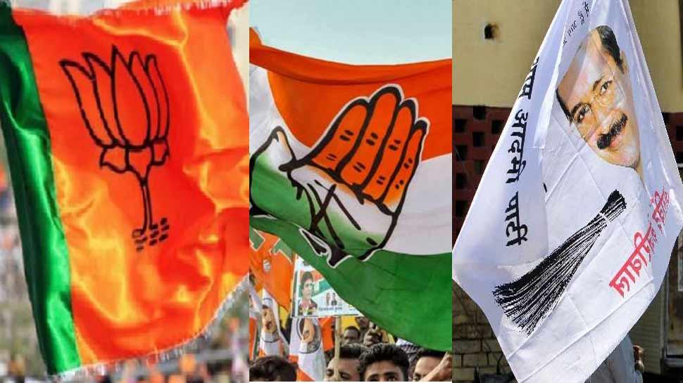 दिल्ली में भी खिला कमल, कांग्रेस का बेहतर प्रदर्शन, नहीं चली झाड़ू