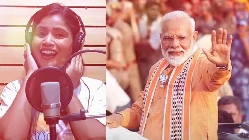 VIDEO: पवन सिंह और कल्लू के बाद खुशबू उत्तम ने बनाया BJP के लिए एक भोजपुरी गाना