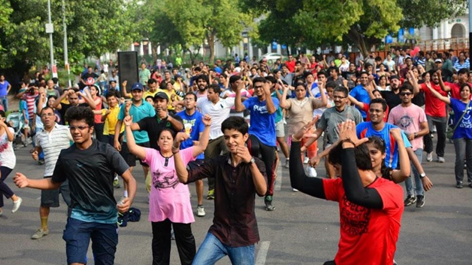 दिल्ली में राहगीरी रविवार की सुबह ताजा हवा लेकर आई, मनाया गया राहगीरी दिवस