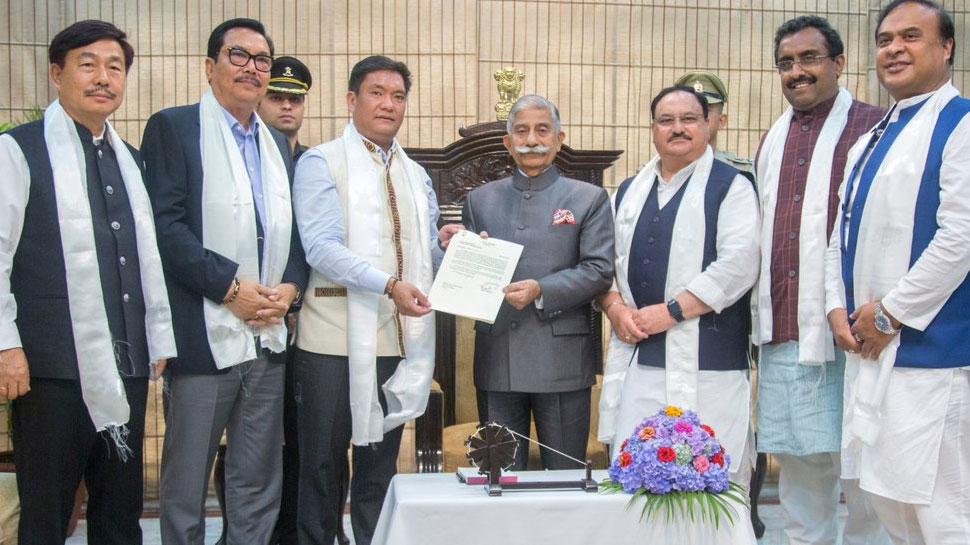 अरूणाचल प्रदेश के राज्यपाल ने दिया पेमा खांडू को सरकार गठन करने का निमंत्रित