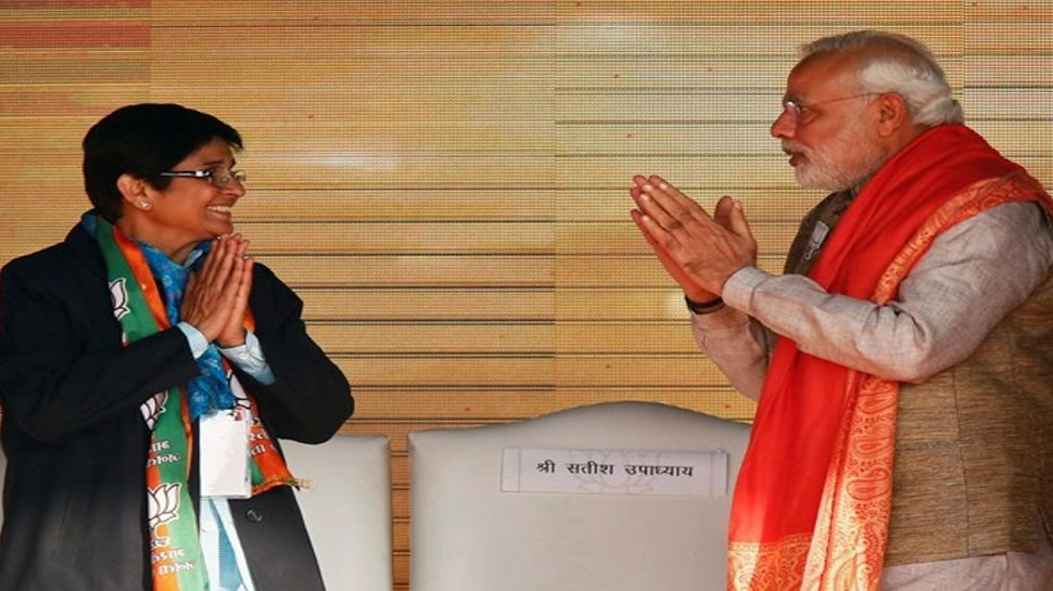 नरेंद्र मोदी के शपथ ग्रहण समारोह में शामिल होंगी किरण बेदी, दिल्ली के लिए हुईं रवाना