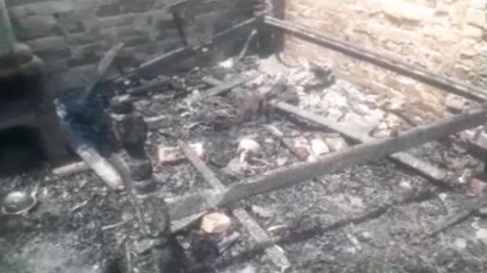 पूर्णियाः दबंगों ने लूटपाट के बाद घर को लगाई आग, लाखों का सामन जलकर खाक
