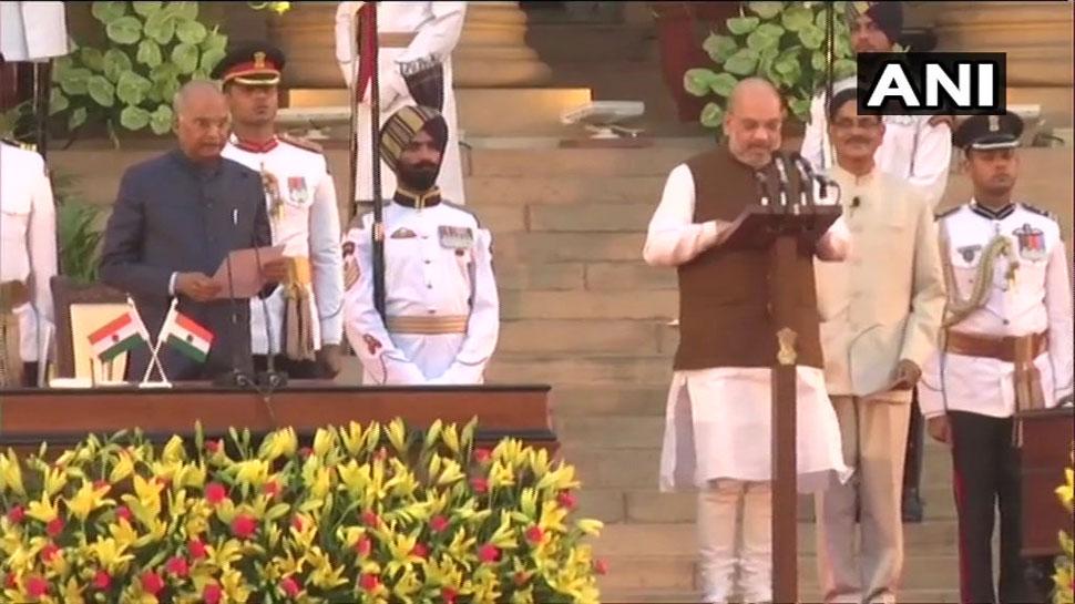 राजनाथ, अमित शाह, सदानंद गौड़ा, गडकरी, सीतारमण ने केंद्रीय मंत्री के रूप में ली शपथ