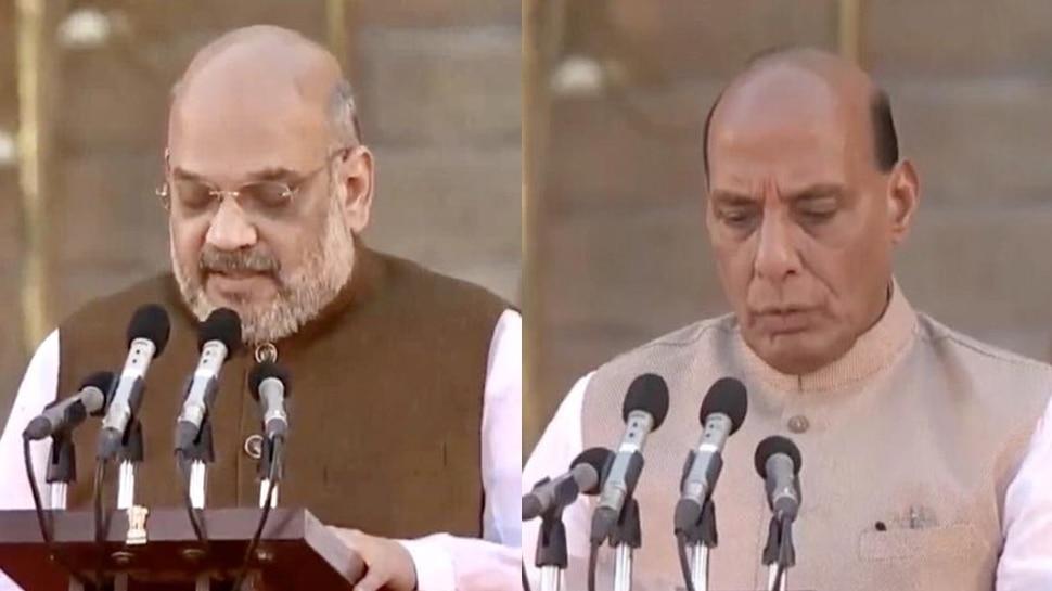 LIVE: मोदी सरकार में गृह मंत्री होंगे अमित शाह, राजनाथ रक्षा मंत्री, जानिए किसे क्या मिला