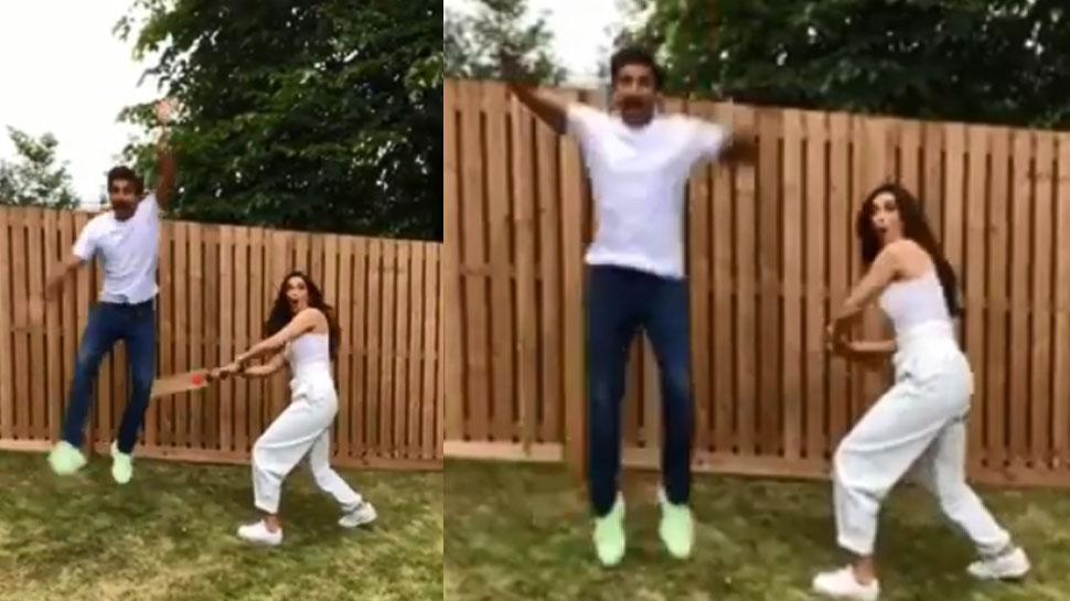 क्रिकेट बैट से दीपिका पादुकोण ने कर दी पति रणवीर सिंह की पिटाई, VIDEO हुआ VIRAL