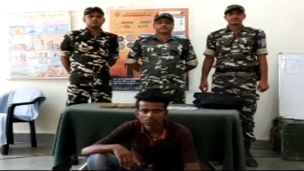 इंडो-नेपाल बॉर्डर पर पकड़ा गया तस्कर, 17 लाख रुपये का चरस बरामद