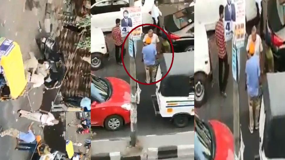 दिल्ली : टैम्पो ड्राइवर ने पुलिसवाले के सिर पर तलवार से किया हमला, VIDEO हुआ वायरल