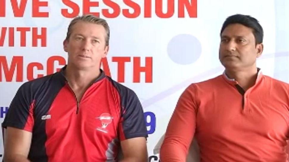 रांची पहुंचे ऑस्ट्रेलियाई तेज गेंदबाज ग्लेन मैक्ग्रा, भारत को भी बताया वर्ल्ड कप का दावेदार