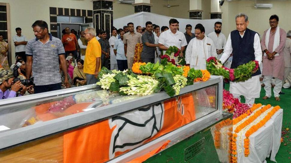 BJP मुख्यालय में रखा गया मदनलाल सैनी का पार्थिव देह, 4 बजे सीकर में होगा अंतिम संस्कार