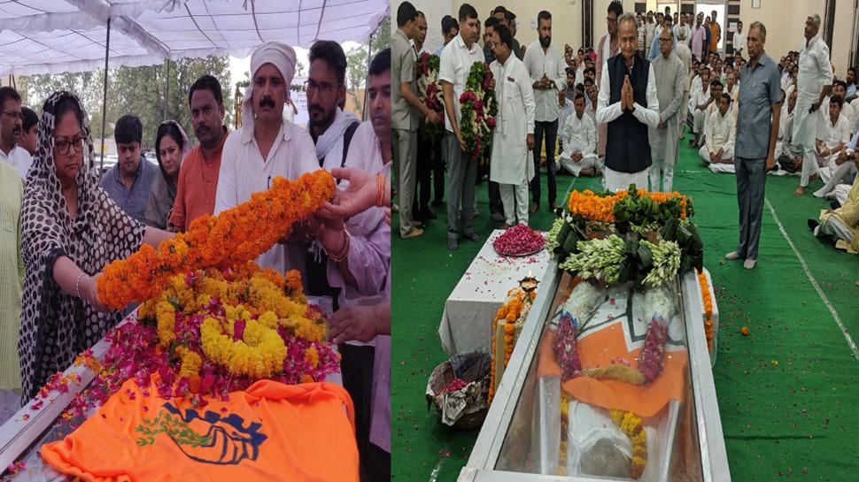 राजस्थान के सभी राजनीतिक पार्टियों के नेताओं ने मदन लाल सैनी को दी श्रद्धांजलि