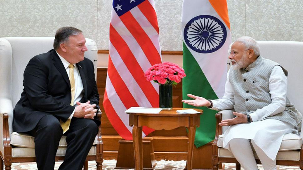 अमेरिकी विदेश मंत्री माइक पोम्पिओ से की मुलाकात, इन मुद्दों पर हुई चर्चा