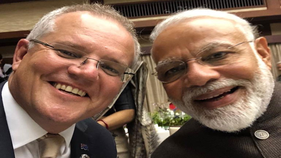 ऑस्ट्रेलियाई प्रधानमंत्री ने पीएम मोदी के साथ सेल्फी ट्वीट की, हिंदी में लिखा- 'कितने अच्छे हैं मोदी'