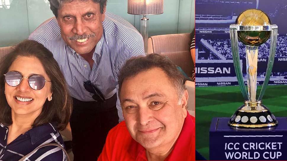ऋषि कपूर ने कर ली है World Cup की पूरी तैयारी, मिलने पहुंचे लिजेंडरी क्रिकेटर कपिल देव