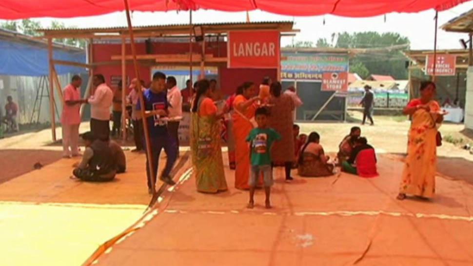 अमरनाथ यात्रियों के लिए स्थापित किए गए 12 ट्रांजिट कैंप