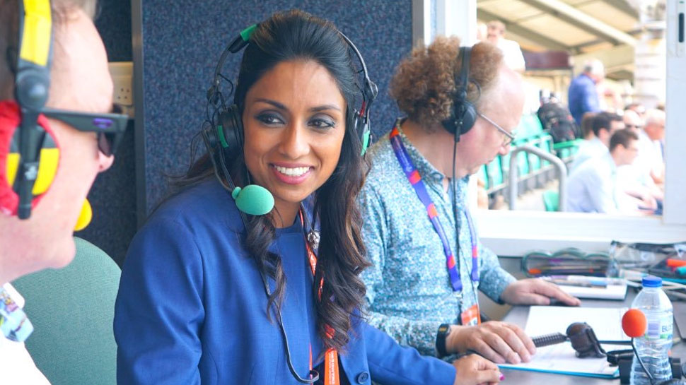 female presenter icc world cup 2019
