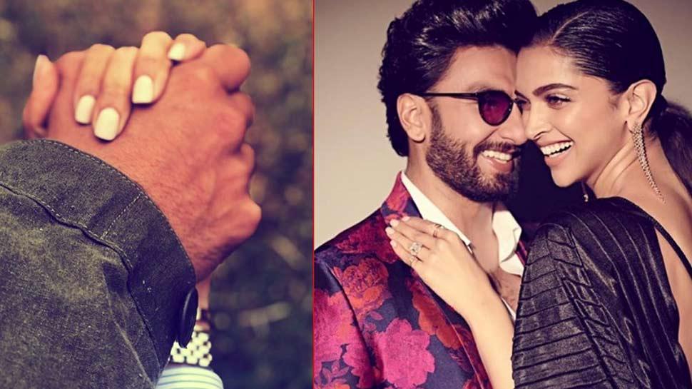 दीपिका ने पति रणवीर के साथ शेयर की रोमांटिक PHOTO, एक-दूसरे का हाथ थामे आए नजर