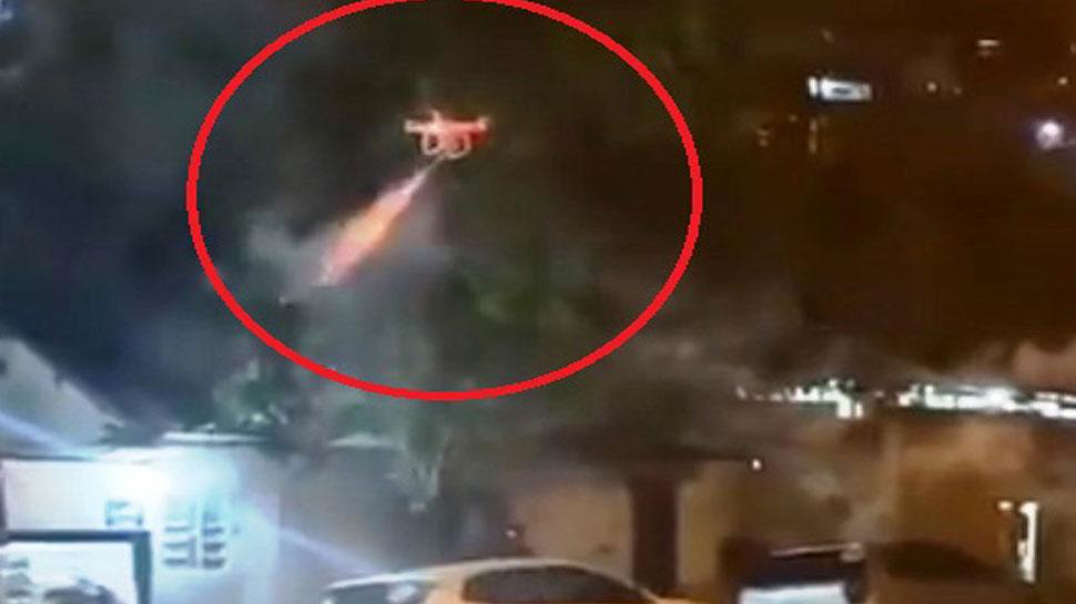 VIDEO: पड़ोसियों के तेज म्यूजिक बजाने से परेशान था शख्स, किया ड्रोन से हमला