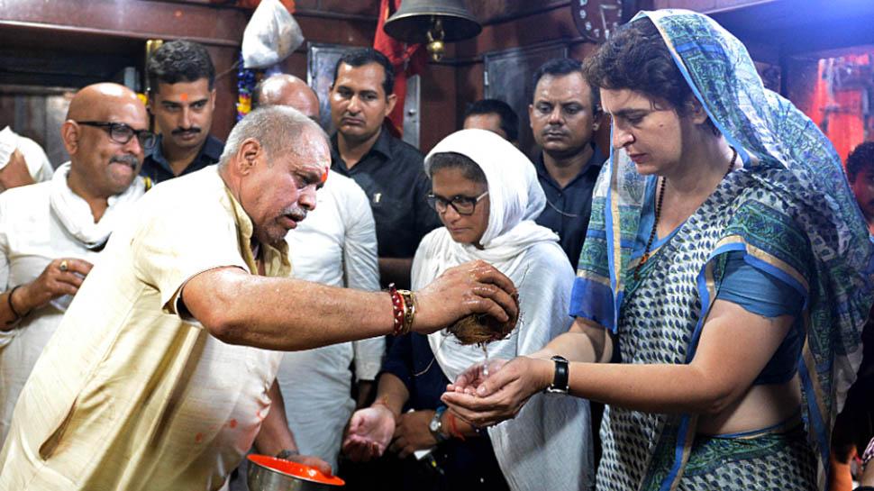 धरना खत्म कर दिल्ली लौटीं प्रियंका गांधी, वाराणसी और मिर्जापुर में की पूजा-अर्चना