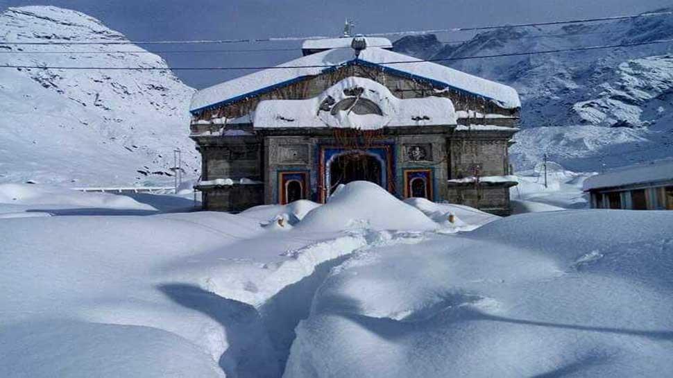 snowfall, Kedarnath