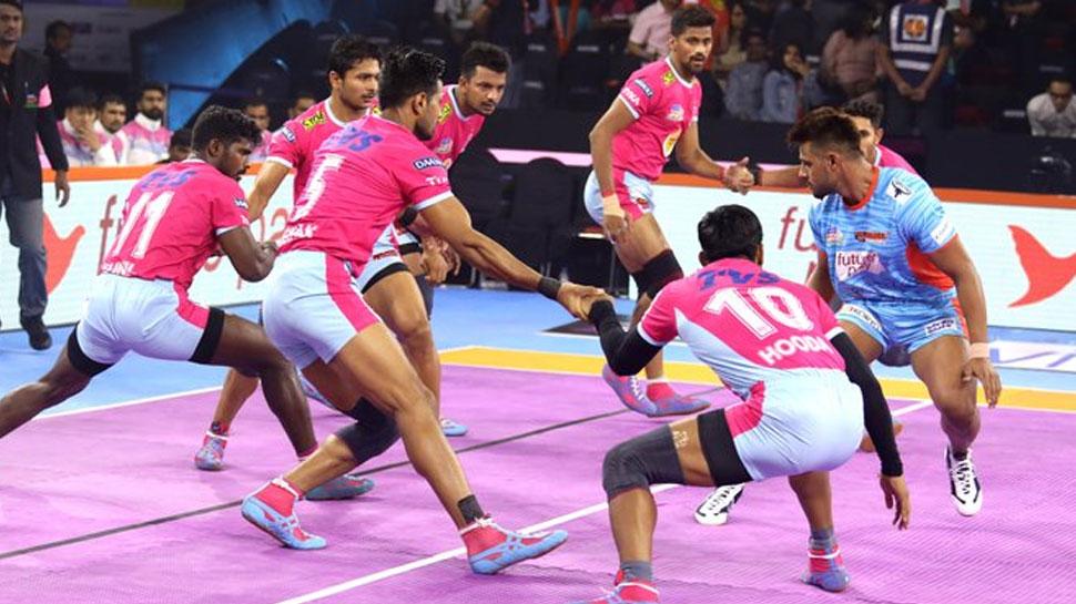 PKL 2019: कांटे के मुकाबले जयपुर की रोमांचक जीत, बंगाल वारियर्स को केवल 2 अंको से हराया