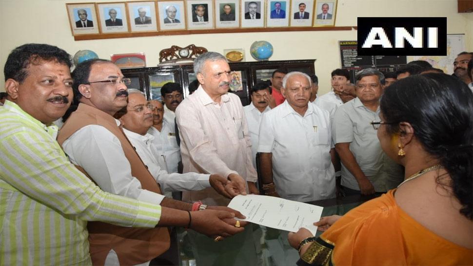 कर्नाटक: बीजेपी विधायक विश्वेशर हेगड़े कागेरी ने स्पीकर पद के लिए भरा नामांकन