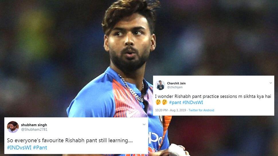 INDvsWI T20: पहली ही गेंद पर आउट हुए ऋषभ पंत, ट्विटर पर फैंस ने की जमकर खिंचाई
