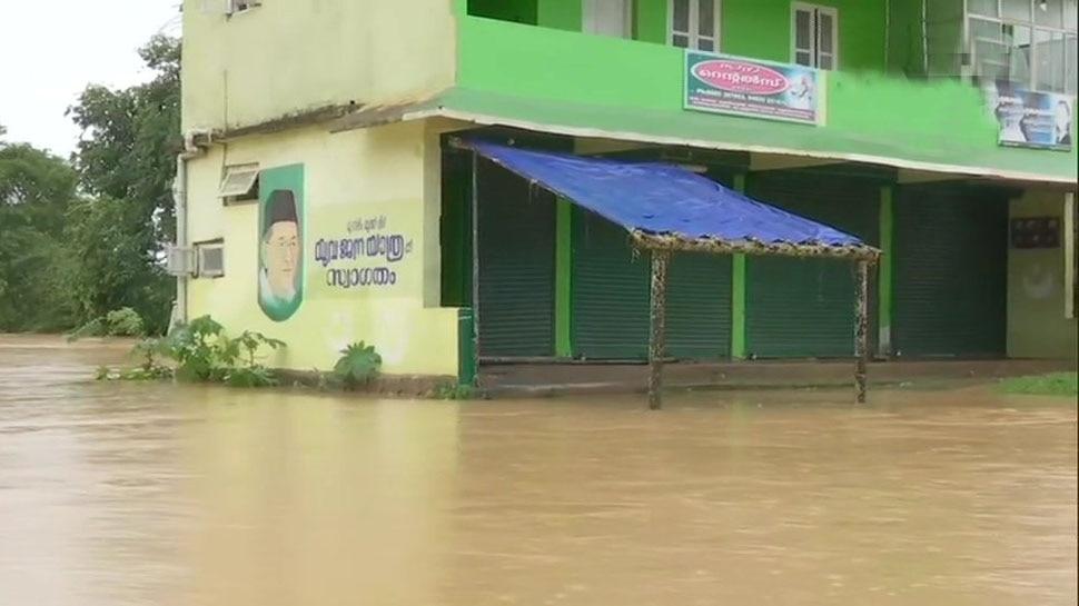 बाढ़ में डूबा केरल का वायनाड, कल राहुल गांधी जाएंगे दौरे पर