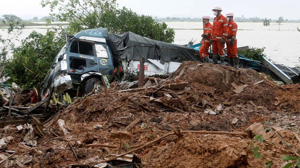 म्यांमार: भूस्खलन से मरने वालों की संख्या बढ़कर 48 हुई, कई लापता