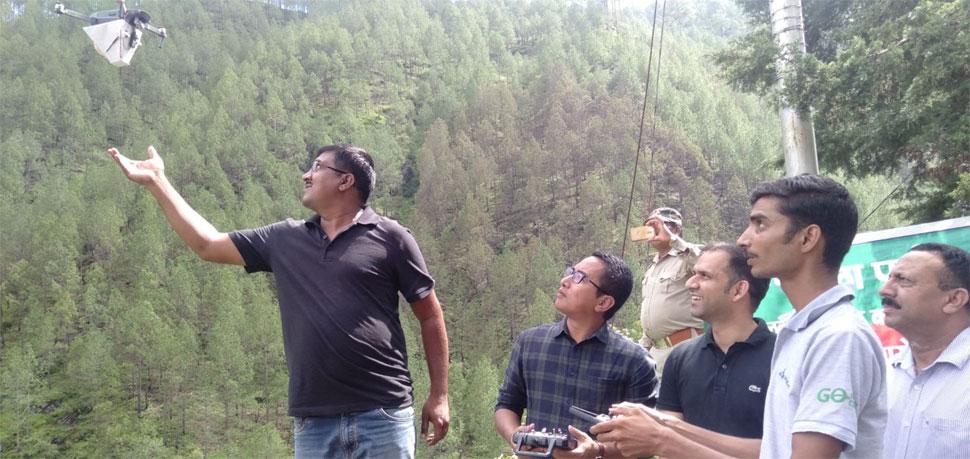 Drone, plantation, Uttrakhand
